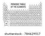 periodic table of elements... | Shutterstock .eps vector #784629517