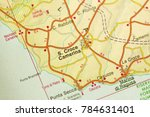 s. croce camerina. map. the... | Shutterstock . vector #784631401