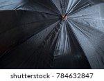 raindrops falling on black... | Shutterstock . vector #784632847