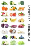 fruit fruits and vegetables... | Shutterstock . vector #784636804