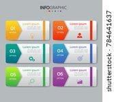 infographics design template 3d ...   Shutterstock .eps vector #784641637