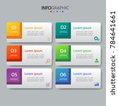 infographics design template 3d ... | Shutterstock .eps vector #784641661