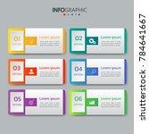 infographics design template 3d ... | Shutterstock .eps vector #784641667