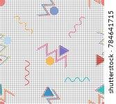 memphis seamless vector pattern....   Shutterstock .eps vector #784641715