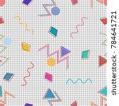 memphis seamless vector pattern....   Shutterstock .eps vector #784641721