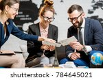 young businesscouple choosing a ... | Shutterstock . vector #784645021