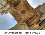 commerce plaza arch in lisbon | Shutterstock . vector #784649611