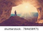 beautiful amazing sunset. ... | Shutterstock . vector #784658971