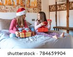 two little sisters playing with ... | Shutterstock . vector #784659904