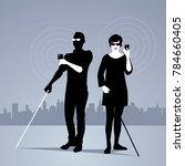 mobile technology for people... | Shutterstock .eps vector #784660405