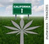 california marijuana concept...   Shutterstock . vector #784662001