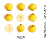 seamless pattern with quince.... | Shutterstock . vector #784665451