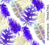 watercolor seamless pattern... | Shutterstock . vector #784667461
