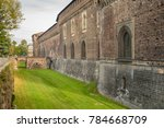 external walls and moat of... | Shutterstock . vector #784668709