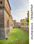 external walls and moat of... | Shutterstock . vector #784669969