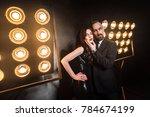bearded business man touching  ... | Shutterstock . vector #784674199