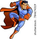 superhero vector clipart punch