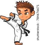 karate martial arts tae kwon do ... | Shutterstock .eps vector #784676671