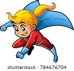 Girl Female Superhero Cartoon Vector Anime Manga Clipart