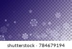 snowflakes christmas background.... | Shutterstock .eps vector #784679194