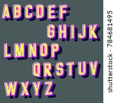 vector set of hand crafted 3d...   Shutterstock .eps vector #784681495