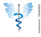 caduceus medical sign logo | Shutterstock .eps vector #784683001