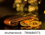bitcoin gold coins with wallet  ... | Shutterstock . vector #784686571