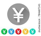 jpy  set of japanese yen sign... | Shutterstock .eps vector #784687141