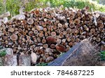 A Stack Of Drying Firewood...