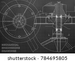 mechanical engineering drawing. ... | Shutterstock .eps vector #784695805