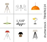 vector interior design vector... | Shutterstock .eps vector #784696114
