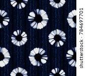Abstract Shibori Floral Striped ...