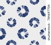abstract shibori floral motif.... | Shutterstock . vector #784697704