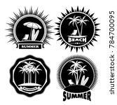 icon summer holiday on the... | Shutterstock .eps vector #784700095