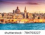 valletta  malta  skyline from... | Shutterstock . vector #784703227