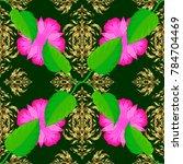 vector illustration. spring... | Shutterstock .eps vector #784704469