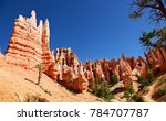 hoodoos and ponderosa pines of... | Shutterstock . vector #784707787