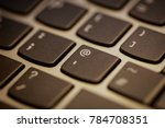 closeup of laptop keyboard | Shutterstock . vector #784708351