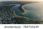 aerial view of the coastal town ... | Shutterstock . vector #784710139