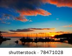 a beautiful sunset over the... | Shutterstock . vector #78471028