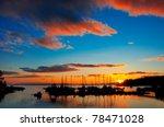 a beautiful sunset over the... | Shutterstock . vector #78471028