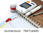 healthcare  paper note word ... | Shutterstock . vector #784716685