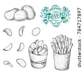 potato vector illustration. raw ... | Shutterstock .eps vector #784717897