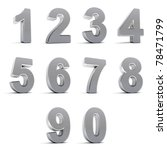 number from 0 to 9 in chrome... | Shutterstock . vector #78471799