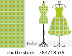 fashion art collection  vector... | Shutterstock .eps vector #784718599