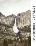 yosemite falls california - stock photo