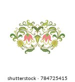 floral composition on white... | Shutterstock .eps vector #784725415