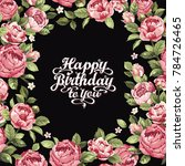 floral greeting card or... | Shutterstock .eps vector #784726465