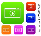 program for video playback set... | Shutterstock . vector #784728661