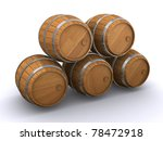 wooden barrels | Shutterstock . vector #78472918